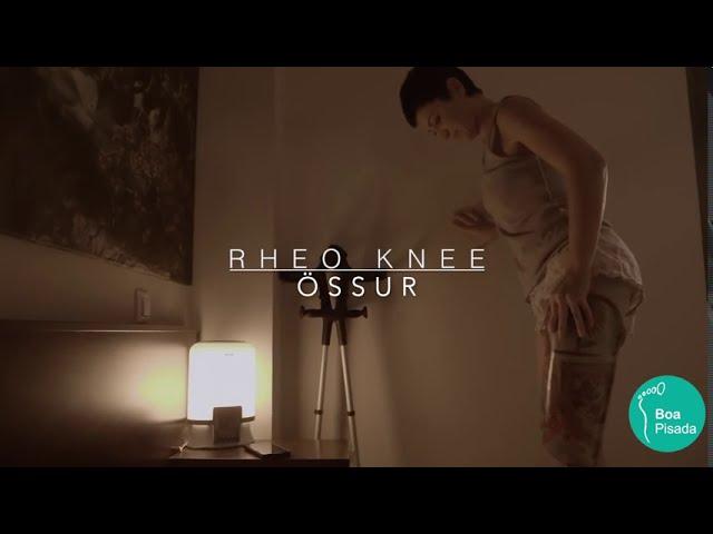 Demonstração do joelho Rheo Knee da Össur para amputados de membro inferior