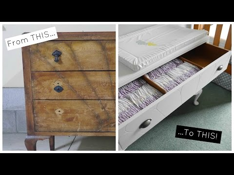 Re-Finishing Old Dresser to Change Table