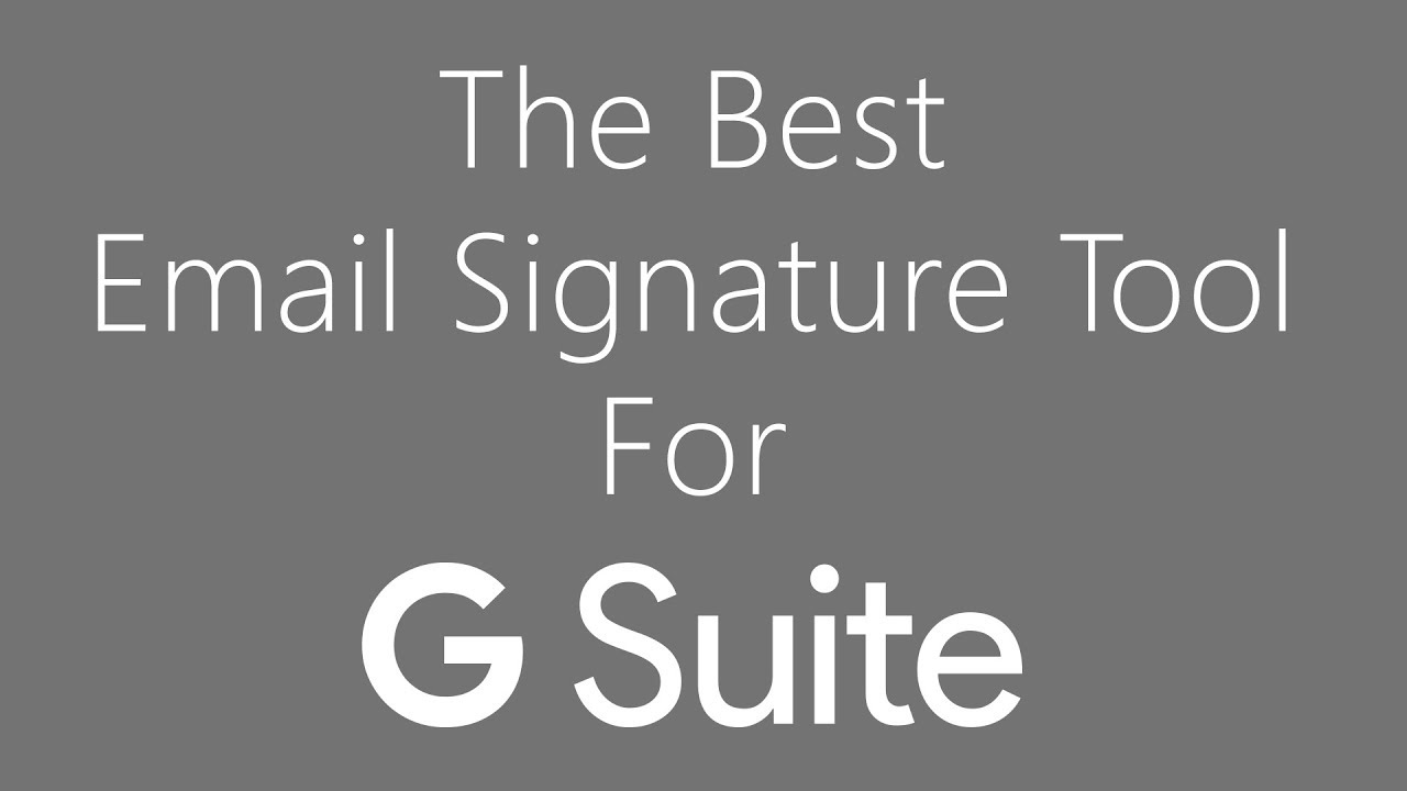 G Suite Email Signature Management Software | Exclaimer