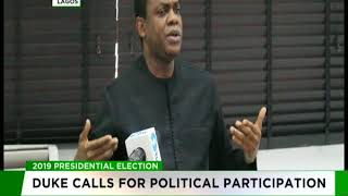 2019: Donald Duke calls for political participation