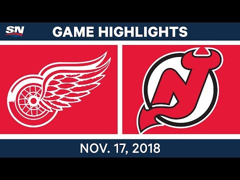 NHL Highlights | Red Wings vs. Devils – Nov. 17, 2018