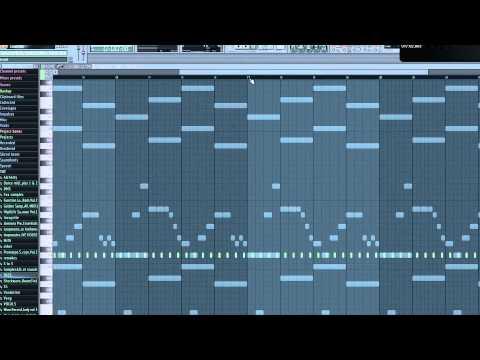 FL Studio: Making the melodies of ''Laidback Luke & D.O.D - Flashing lights''