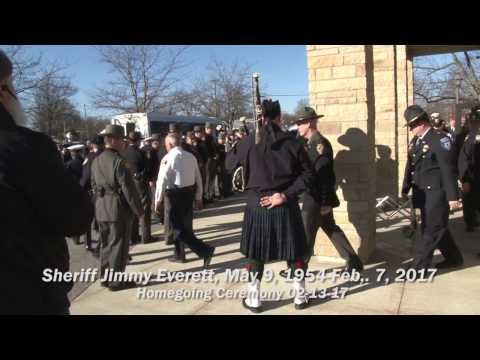 Sheriff Jim  Everett Funeral, Allen County, OH