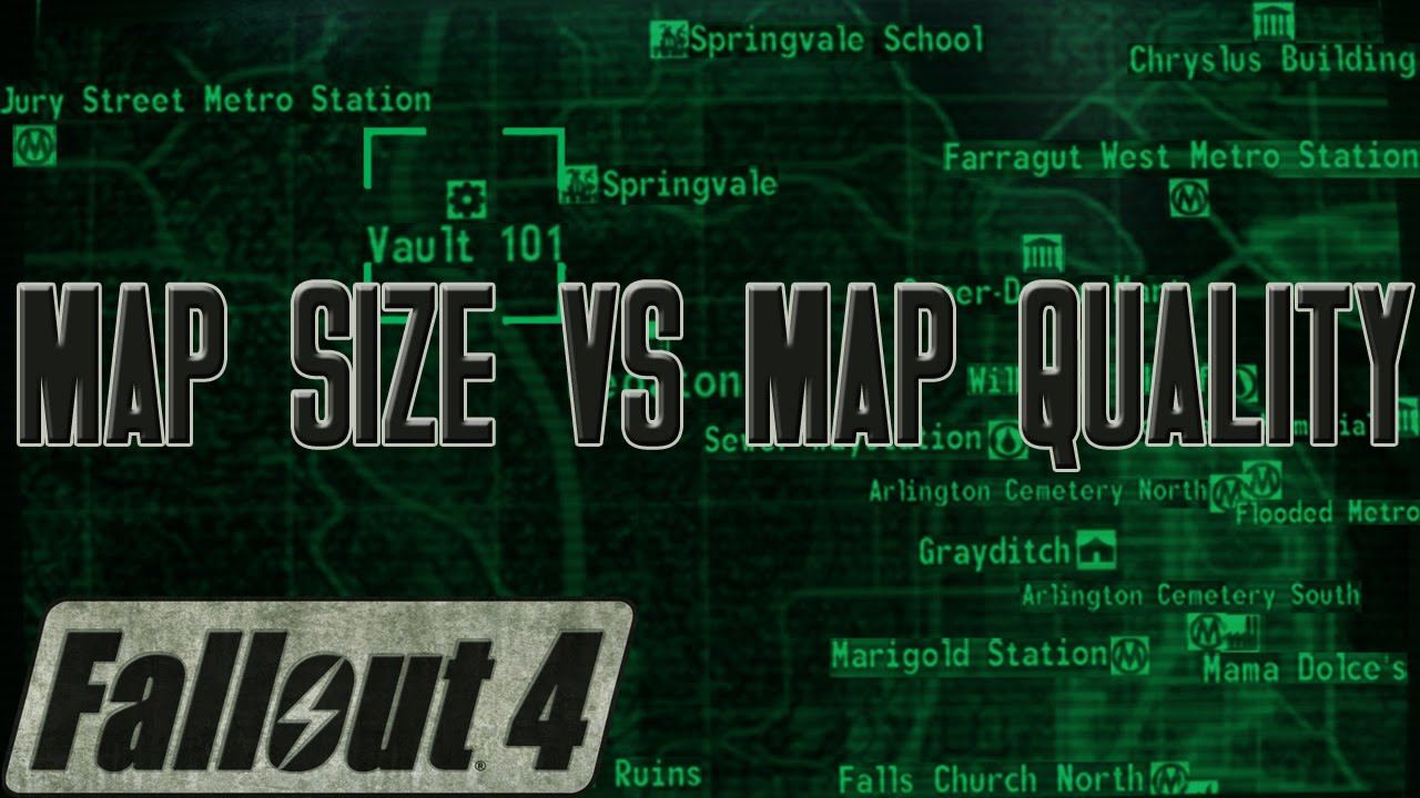 Fallout Las Vegas Map.Fallout 4 Map Size Vs Map Quality Fo4 Discussion Youtube
