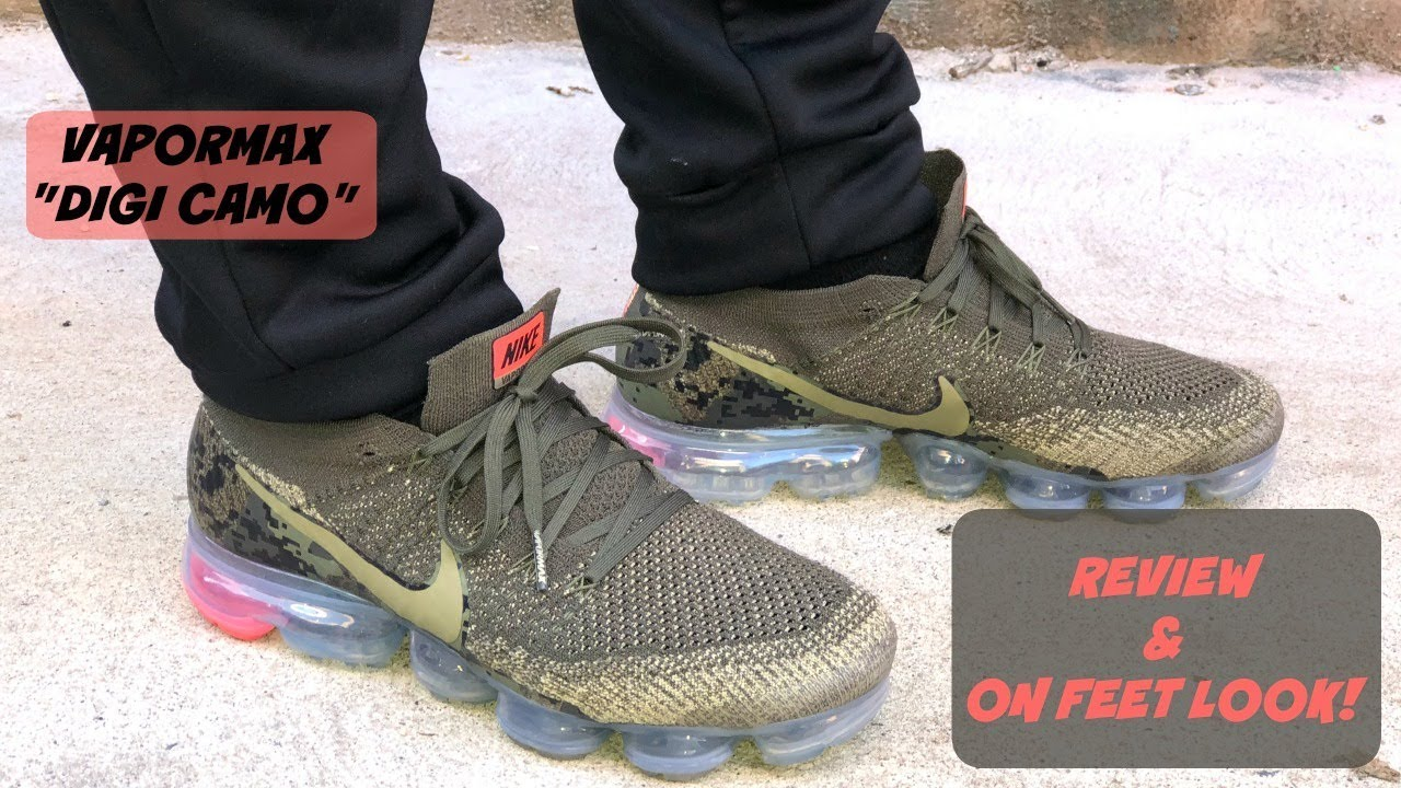 "designer fashion 74540 39d03 NIKE VAPORMAX OLIVE/PUNCH ""DIGI CAMO"" UNBOXING + REVIEW + ON FEET!!! HOW  DID I GET THEM SO EARLY?"