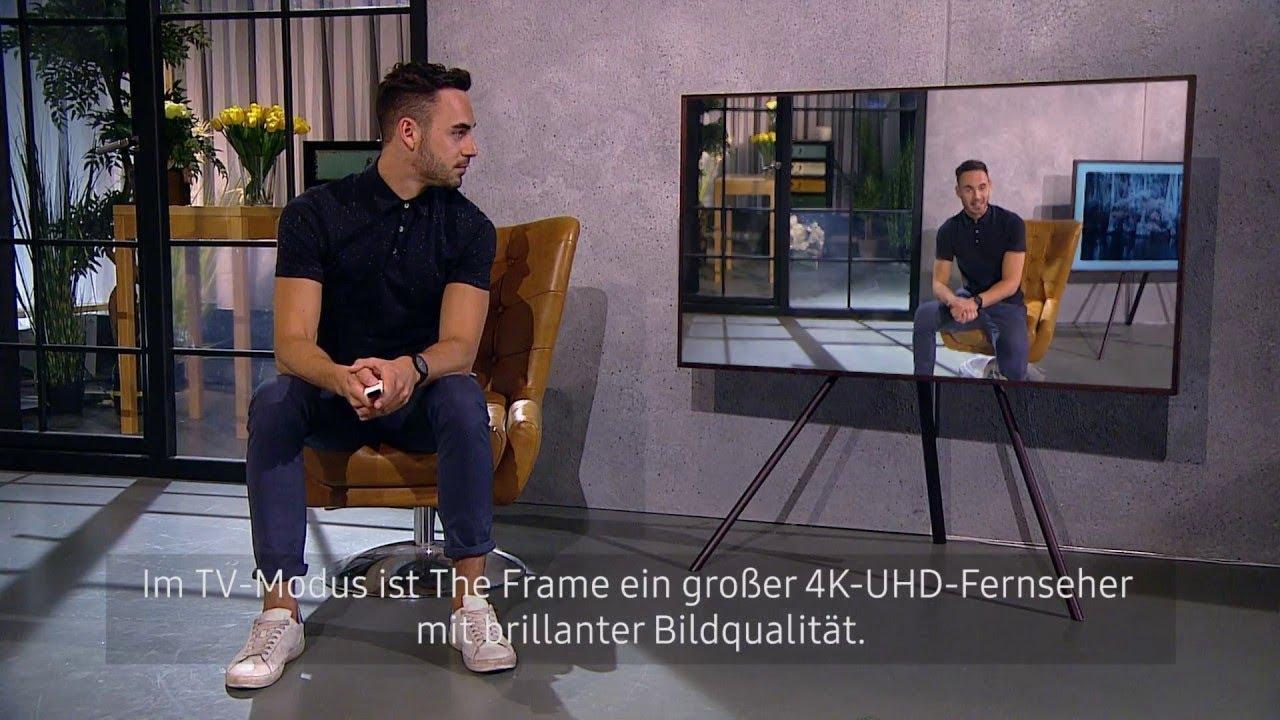 fernseher als bilderrahmen samsung the frame youtube. Black Bedroom Furniture Sets. Home Design Ideas