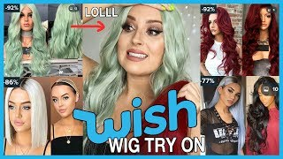 Trying On Cheap WISH APP Wigs! 💕💇 OMG LOOOOVE!!!