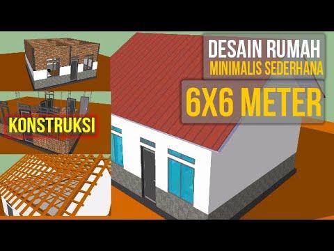 Desain Rumah Sederhana Ukuran 6x6 Meter 2 Kamar Tidur - Insinyur Official -  YouTube