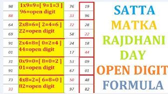 Satta Mataka 04-04-2020 Rajdhani Day Open Digit Formula Jodi K Sath Table Trick सत्त मटका राजधनी दिन
