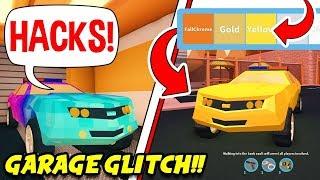 Roblox Jailbreak NEW GARAGE CAR GLITCH!! *PRETEND TO BE A HACKER!* (New Glitch!)