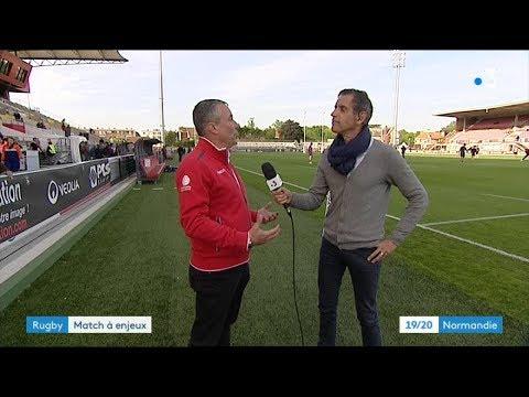 Jean-Louis Louvel avant le match historique de Rouen Normandie Rugby