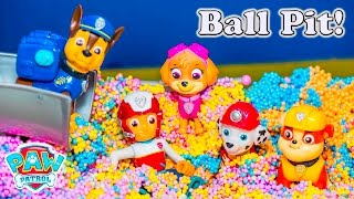 PAW PATROL Nickelodeon Paw Patrol Surprise Ball Pit Paw Patrol Video Parody