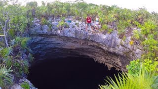 AMAZING HOLE IN THE EARTH!! We Jumped in!!