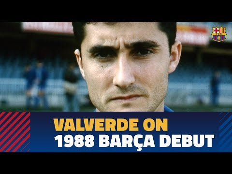 Ernesto Valverde looks back at his debut for Barça as a player
