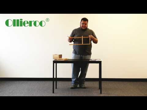 Ollieroo Natural Bamboo Desk Organizer with Extendable Storage for Office and Home