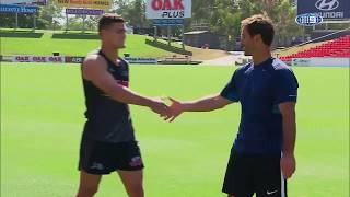 Kicking with Nathan Cleary