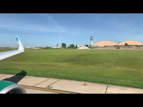 Frontier A321 Flight 2439 Powerful Takeoff From Cleveland Hopkins International Airport (KCLE)
