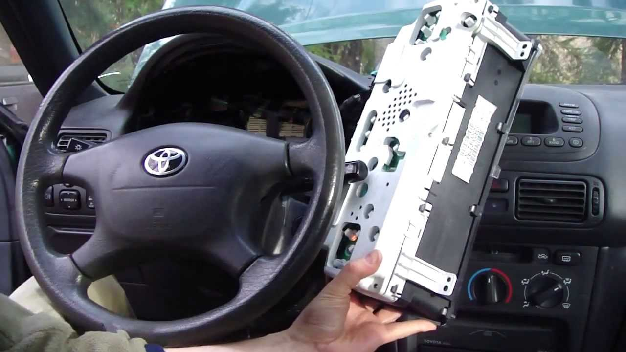 How To Change Dashboard Lights Toyota Corolla Year Model