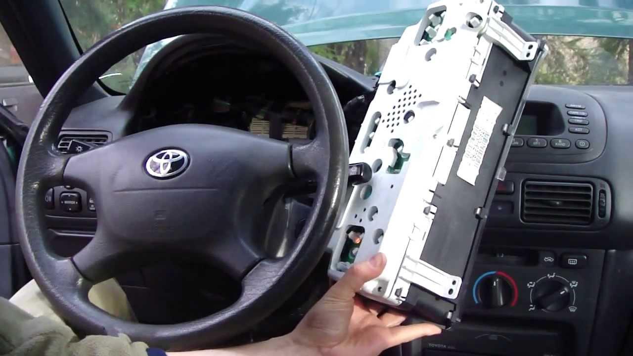 medium resolution of how to change dashboard lights toyota corolla year model 1996 2002 21 youtube