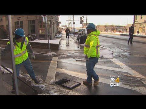 Water Main Breaks Near Broadway T Station