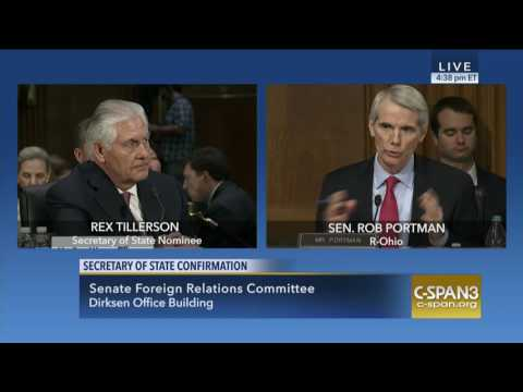 Portman Questions Tillerson on Russian Involvement in Syria, Secures Commitments on Israel