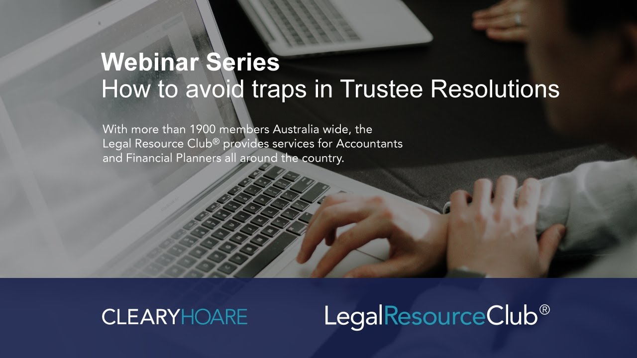 Traps in Trustee Resolutions