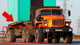 Редкий грузовик УРАЛ 10Х10! Забыли Урал с полным приводом!