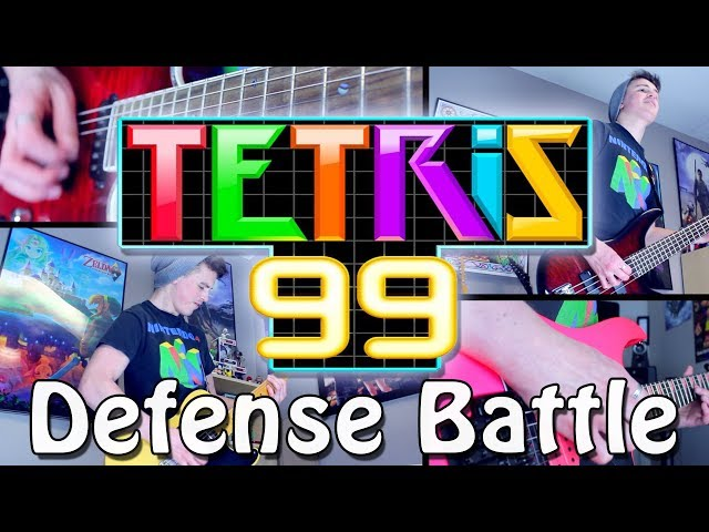 Defense Battle - Tetris 99 (Rock/Metal) Guitar Cover | Gabocarina96