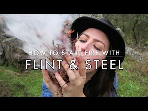 How To Start a Fire using Flint & Steel. Best Fire Starting Method?