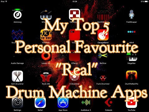 "My Top 5 Personal Favourite ""Real"" Drum Machine Apps for the ipad"
