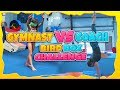 Gymnasts VS Coach Gymnastics Handstand Obstacle Course| Rachel Marie