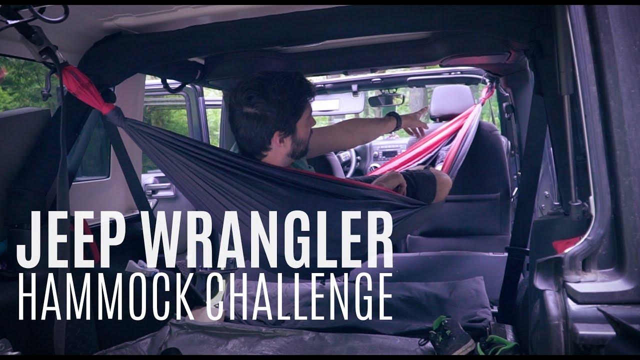Jeep Wrangler Hammock Challenge Sleeping Inside Jku