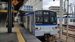 相鉄新7000系(7755F)快速横浜行き 相鉄線西横浜通過
