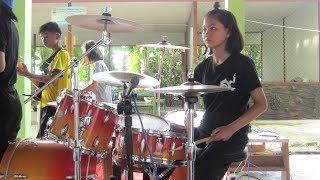 ตราบธุรีดิน(มือกลองหญิง)Nongtae school band.โรงเรียนบ้านหนองแต้