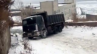 Владивосток Эгершельд ДТП спуск ул. Крыгина Гололёд снег 22 февраля Car Crash Show Astakada