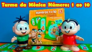Turma da Mônica brinca - Números 1 ao 10 - Contagem e Quantidade para crianças #TiaCris