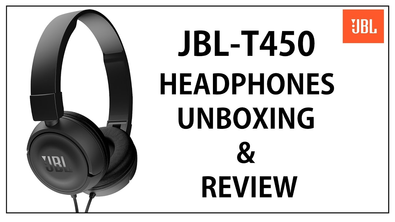 23b82915365 JBL T450 Headphones With Mic Unboxing and Review - YouTube