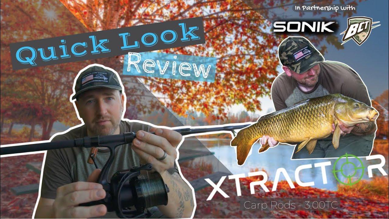 2 X Sonik XTRACTOR Carp Rods 9FT 2.75LB