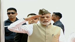 PM Modi hoists national flag at Red Fort to honour Netaji Subhas Chandra Bose