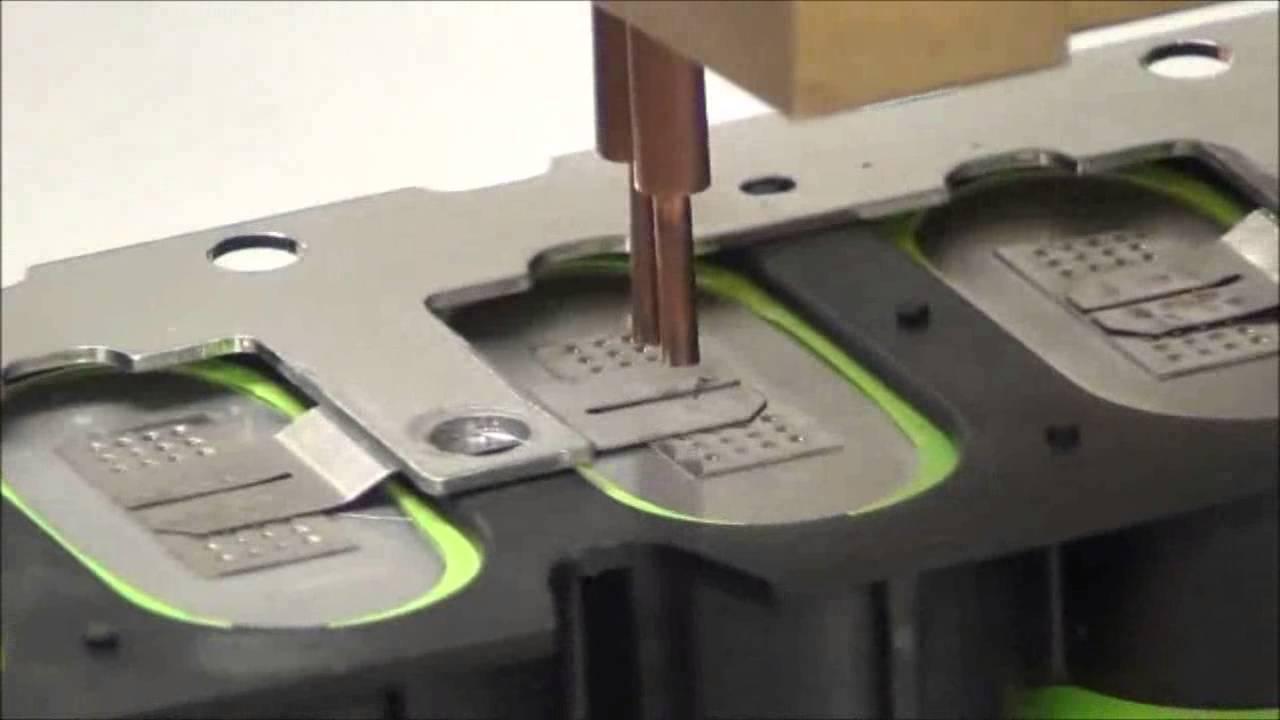 Battery Tab Welding 5mil Split Nickel Tabs To Swing 5300