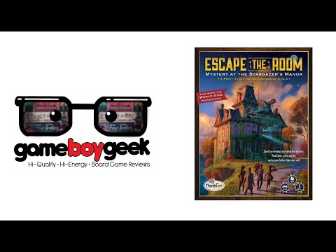Escape the Room: Mystery at the Stargazer's Manor Review with the Game Boy Geek