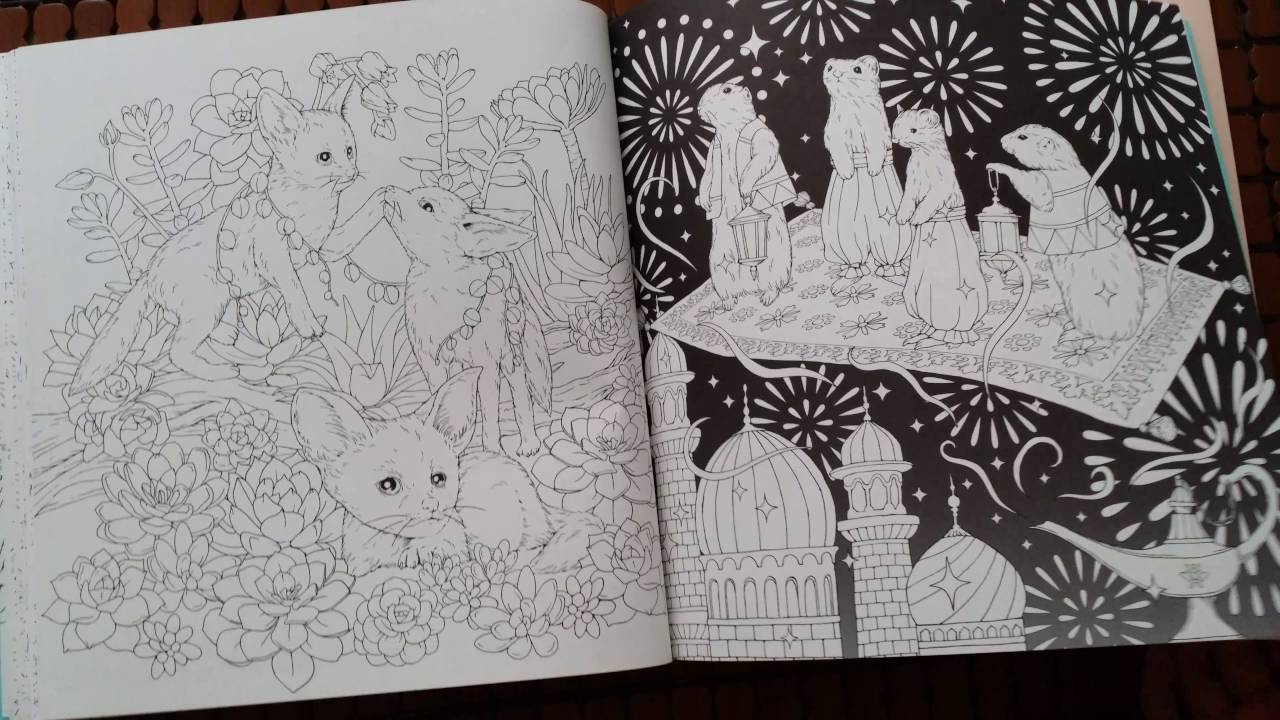 Romantic Flowers Coloring Book