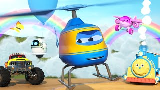 Learn Shapes with Max the Glow Train, Alex the Helicopter and Friends   The Amazing Sky Adventure