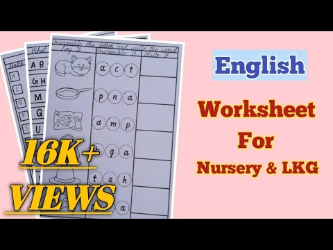 English Worksheets For PG, Nursery And LKG English Worksheets Worksheets  For Kids - YouTube