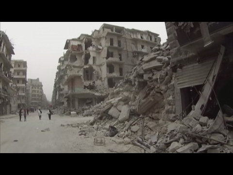 Syria: Normal life slowly resumes amid ruins of Aleppo
