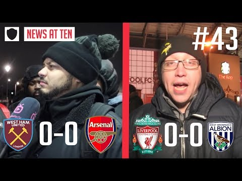 ARSENAL AND LIVERPOOL DRAW BLANKS..JANUARY TRANSFERS NEEDED? | NEWS AT TEN  #43