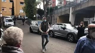 Ore 14:05  Sergej Milinkovic Savic arriva in Clinica per le visite mediche dopo aver preso il Covid