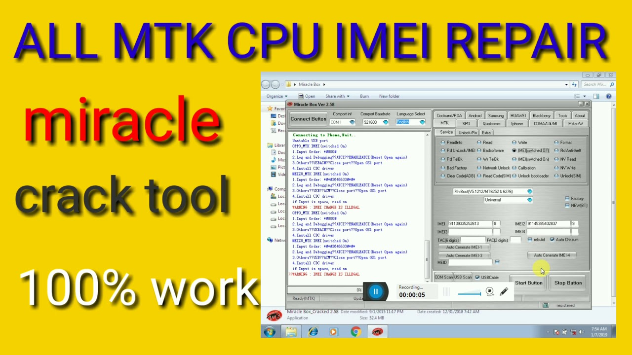 All mtk cpu imei repair tool 100% working