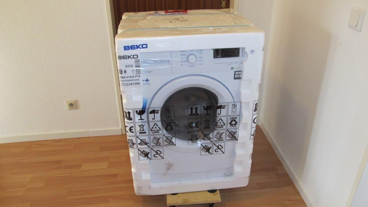 Beko Wmb Waschmaschine Washing Machine Unboxing Youtube