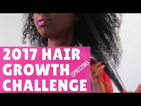 Natural Hair Growth 2017 - Spritzing // MoistureLover Hair